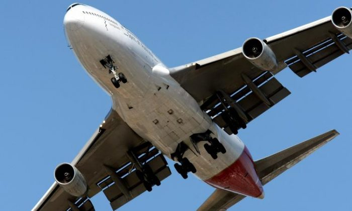 A Qantas Boeing 747 takes off from Melbourne's Tullamarine International Airport. (Torsten Blackwood/Getty Images)