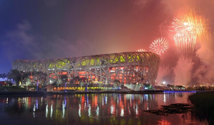 The National Stadium, also known as the 'Bird's Nest'. (Axel Shmidt/AFP/Getty Images)