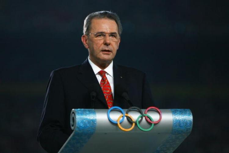 Jacques Rogge, President of the International Olympic Committee (IOC) speaks during the Opening Ceremony. (Paul Gilham/Getty Images)