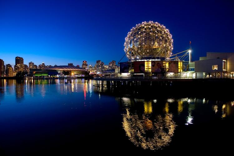 The TELUS World of Science geodesic dome in Vancouver.  (Robert Giroux/Getty Images )