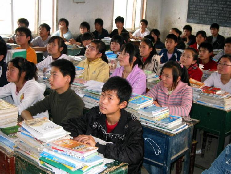 Students in a classroom in east China's Anhui Province. (AFP/Getty Images)