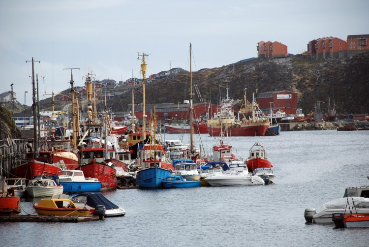 The port of Nuuk, capital of Greenland