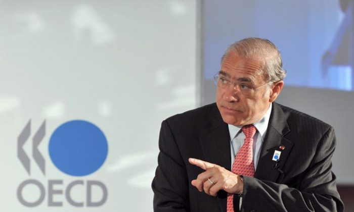 OECD Secretary-General Angel Gurria at the OECD headquarters in Paris, in this file photo. His organization has been lobbying for synchronizing global taxes. President Trump says no.  (Eric Piermont/AFP/Getty Images)