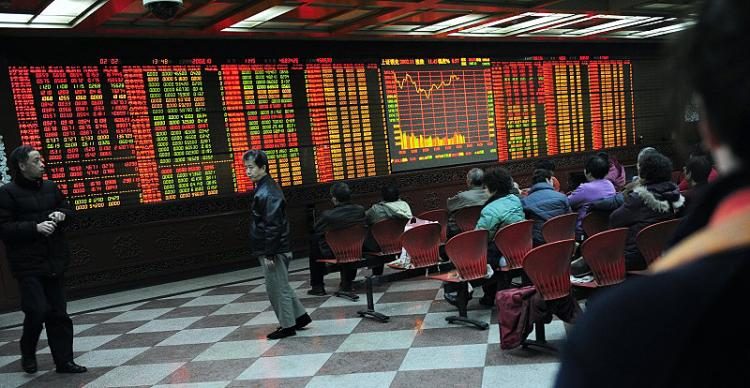 STOCK DROP: Stock markets in Shanghai and Shenzhen in mainland China experienced huge drops again on the last business day of August, with Shanghai stock market falling over six percent and Shenzhen over seven percent. These drops are the highest recorded since June 10, 2008. (Getty Images)