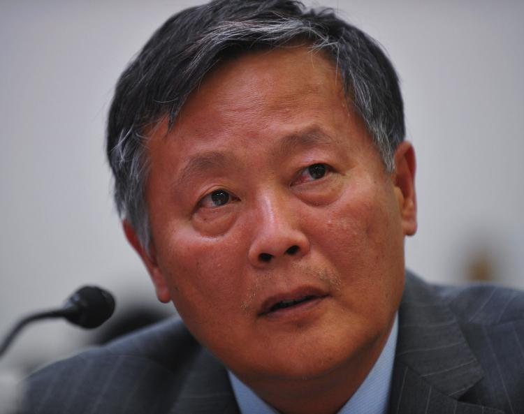 Chinese human rights activist Wei Jingsheng testifies before the US House of Representatives' Tom Lantos Human Rights Commission on September 29, 2009 in the Rayburn House Office Building on Capitol Hill in Washington. (Mandel NGAN/Getty Images)