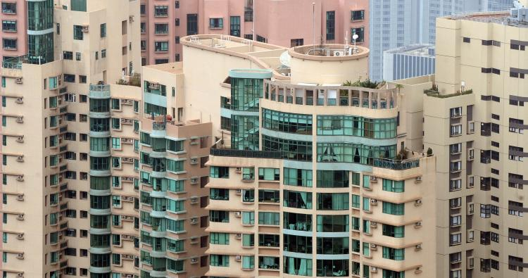 SELLING WELL: The tops of several luxury apartments in Hong Kong are seen in this file photo. Hong Kong's luxury condo market has experienced a recent revival in sales. (Laurent Fievet/AFP/Getty Images)