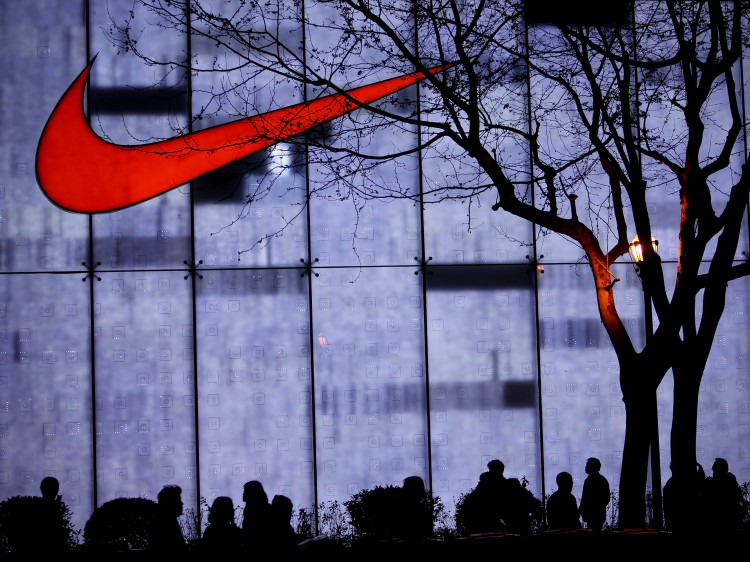 a Nike store on the Nanjing Road