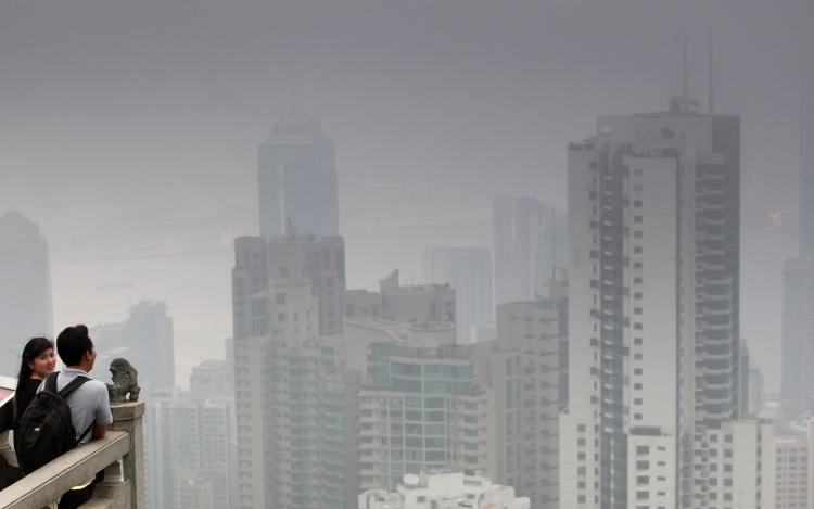 Hong Kong roadside pollution soared to record highs in the last two quarters. (Ed Jones/AFP/Getty Images)