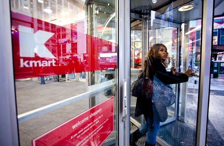 Kmart shoppers enter the 34th Street and 7th Avenue location in New York in this file photo. (Amal Chen/The Epoch Times)