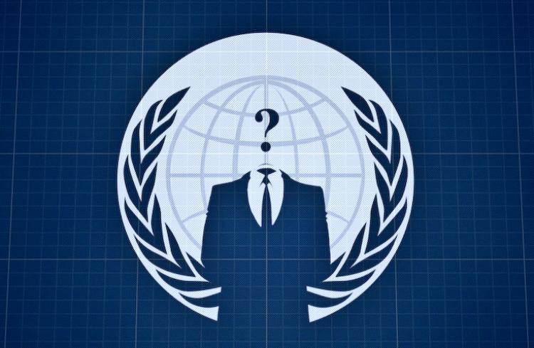 The logo of digital activist organiztaion Anonymous Operations. The 'hacktivist' group posted some 90,000 military e-mail addresses and passwords to a torrent website. (Anonymous Operations)