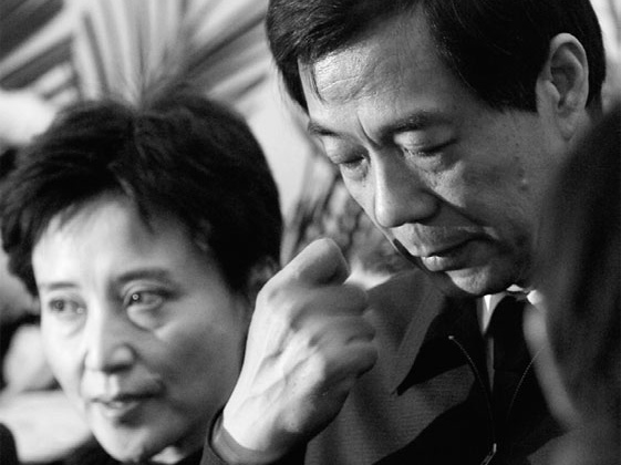 Ousted Bo Xilai and his wife Gu Kailai.