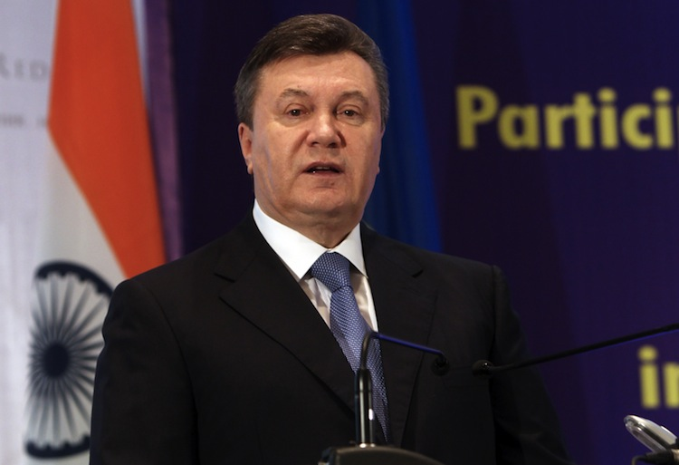 Ukrainian President Viktor Yanukovych in Bangalore on Dec. 12, 2012. Ukraine is willing to make political reforms required by the EU to sign an association agreement. (Manjunath Kiran/AFP/Getty Images)