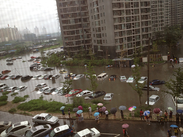 Beijing flooding, the worst in six decades, on July 21