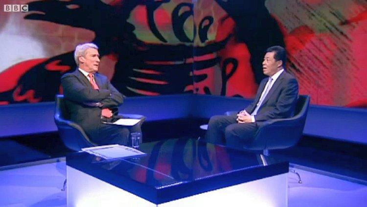 """BBC """"Newsnight's"""" Jeremy Paxman asking Chinese ambassador to the U.K., Liu Xiaoming"""