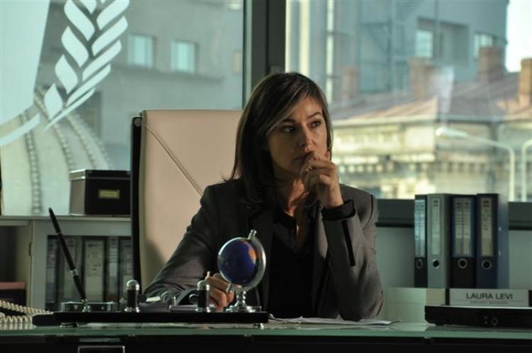 CONTEMPLATION: Monica Bellucci as the big-shot NGO head, Laura Leviani, in the drama film 'The Whistleblower.' (Cary Fukunaga/Samuel Goldwyn Films )