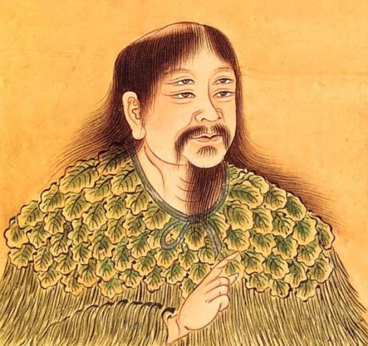 Portrait of Cangjie. (Wikimedia Commons)