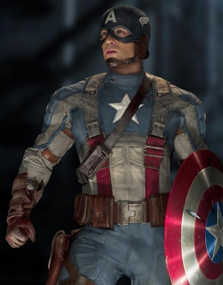 CAPTAIN AMERICA: Chris Evan plays Captain America in the action-adventure movie 'Captain America: The First Avenger.'  (Courtesy of Paramount Pictures and Marvel Studios)