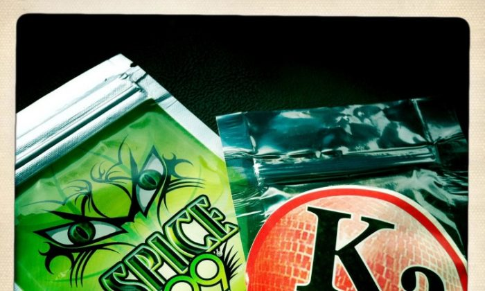 Synthetic marijuana, such as the two packages shown, were banned in New York City and state by the city and state Health Departments. (Drug Enforcement Agency)