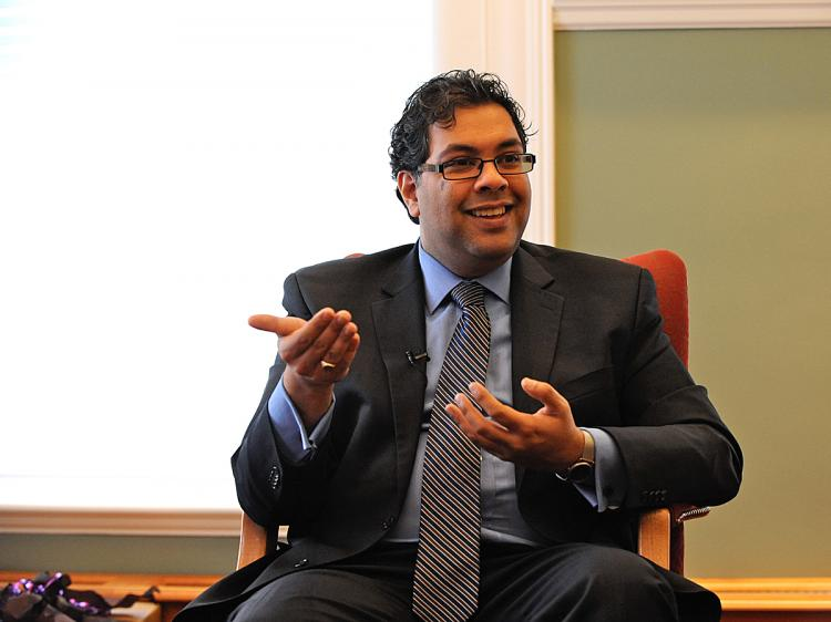 Calgary Mayor Naheed Nenshi says being mayor means asking himself whether his actions are guided by ego or the best interests of the city. (Jerry Wu/The Epoch Times)