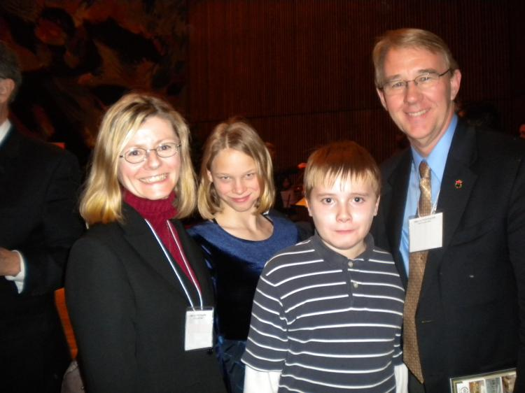 The Ricketts family enjoyed a wonderful Shen Yun production at the National Arts Centre on Sunday afternoon, Jan. 10, 2010, in Ottawa. (NTDTV)