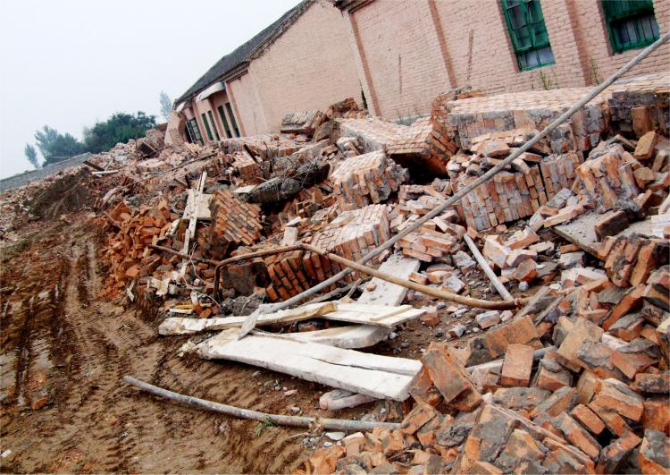 Part of the church group's destroyed buildings on Sept. 13. (ChinaAid)