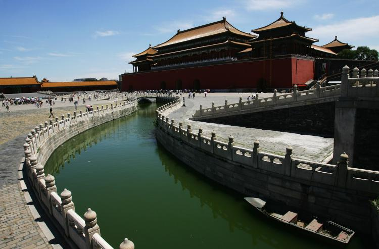 The Ancient Chinese theory of Five Elements was used for color selections in the Forbidden City during the Ming and Qing Dynasties. (Guang Niu/Getty Images)