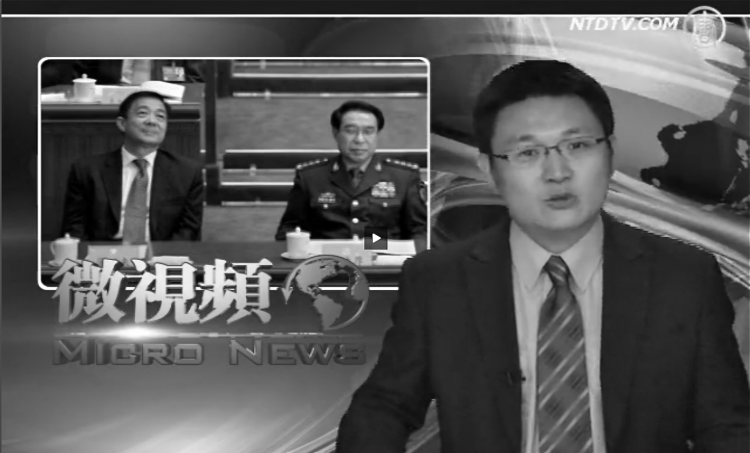 "A screenshot from the New Tang Dynasty Television program ""Micro News"""