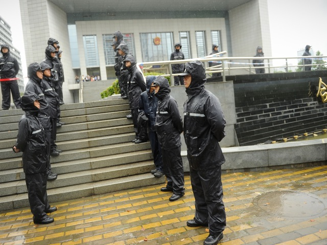 outside the Intermediate People's Court in Hefei City, Anhui Province