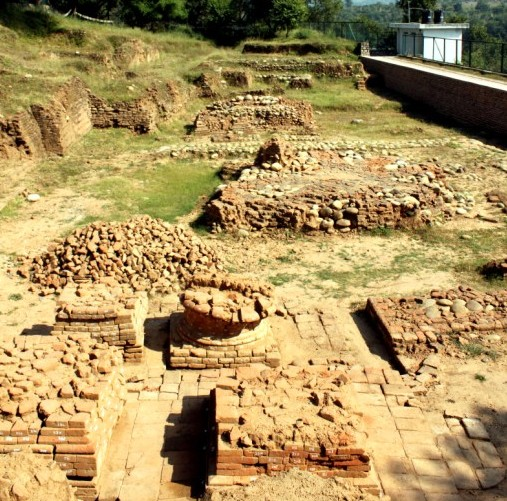 the excavation site of Ambaran on the outskirts of Akhnoor town