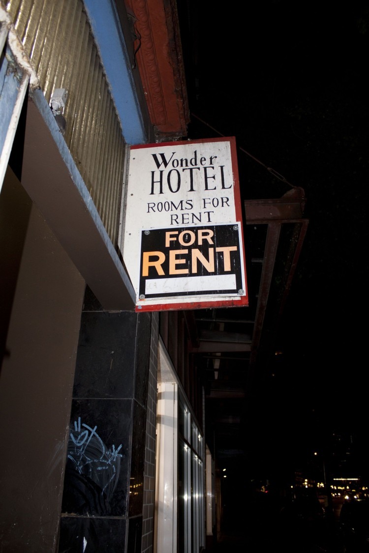 The Wonder Rooms, a single-resident occupancy hotel in Vancouver's Downtown Eastside. Vancouver City Council is creating two task forces to explore SRO hotel conditions and methadone program abuses.  (Brad Bussche/The Epoch Times)