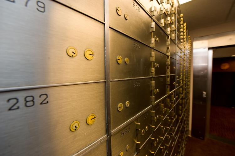 Safety deposit boxes. (Courtesy of Diebold Incorporated )