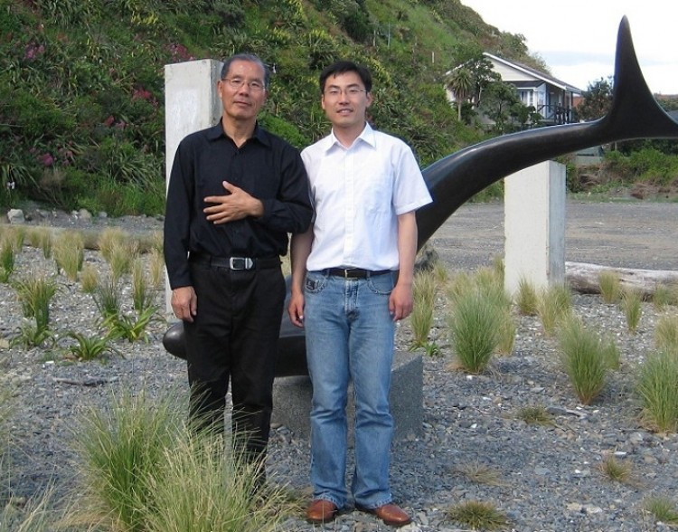 Jia Jia and his son Jia Kuo, a photo taken before Jia Jia left for China in 2009. (Photo provided by Jia Kuo)