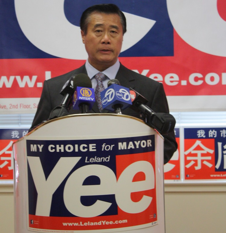 Leland Yee, San Francisco mayoral candidate, has not held back on pummeling Ed Lee this week. (Ariel Tian/The Epoch Times)