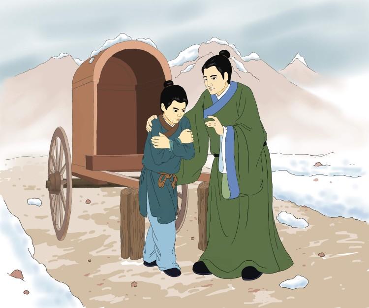 Min Deren speaks to his son Ziqian