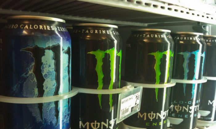 The U.S. Food and Drug Administration is investigating five deaths and a heart attack for possible links to consumption of Monster Energy drinks. (Charlottle Cuthbertson/The Epoch Times)