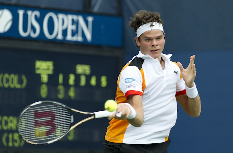 Milos Raonic needed five sets to get past Colombia's Santiago Giraldo at the U.S. Open on Tuesday. (Don Emmert/AFP/GettyImages)