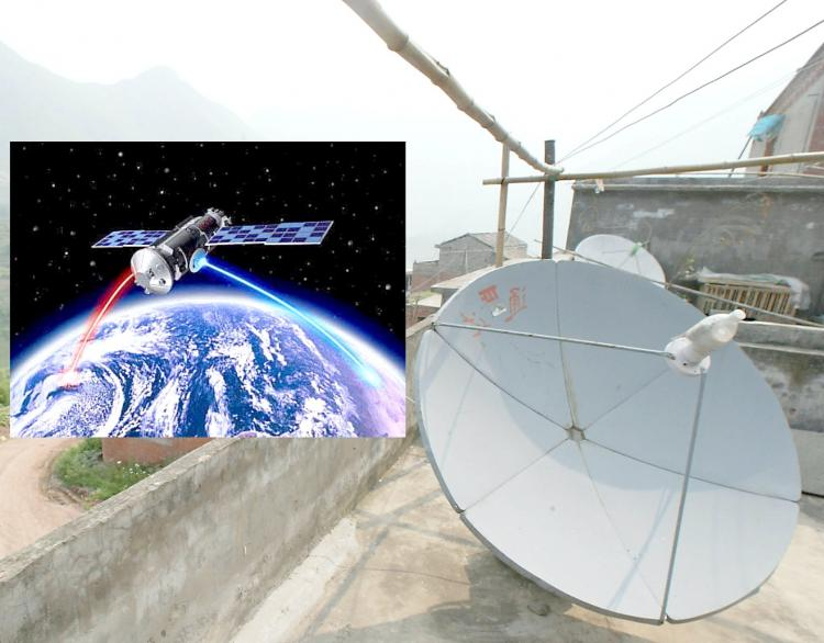 China may no longer receive satellite-transmitted news from several independent television and radio stations. (Goh Chai Hin/AFP/Getty Images)
