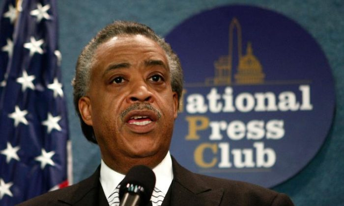 An undated file photo of Al Sharpton at the National Press Club. (Mark Wilson/Getty Images)