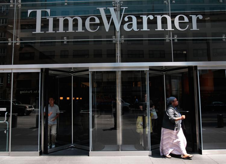 The entrance of The Time Warner Center in New York City is seen on Aug. 6, 2008.  (Chris Hondros/Getty Images)