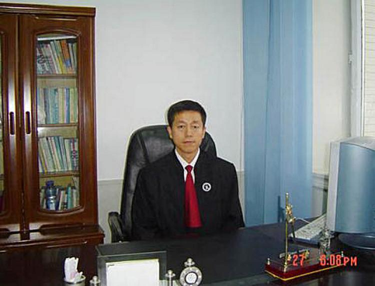 Lawyer Wei Liangyue from Focus Point Law Office in Helongjiang Province  (The Epoch Times)