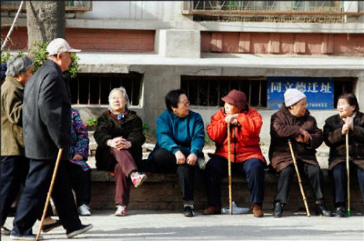 The number of seniors is climbing in China. A young couple born in the 80s are the sole caregivers of four aging parents.  (Getty Images)