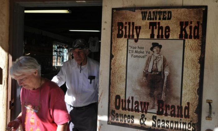 A photo of a store selling Billy the kid merchandise in Lincoln, New Mexico, on Oct. 21, 2010. (Mark Ralston/AFP/Getty Images)