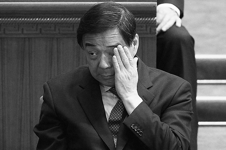 Bo Xilai on March 13 in Beijing, China, two days before he was replaced