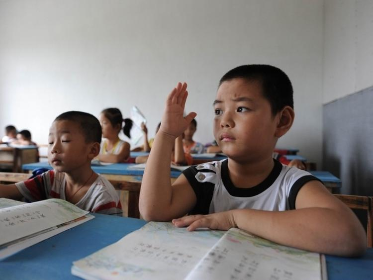 A language class in a Chinese elementary school.  (Getty Images)