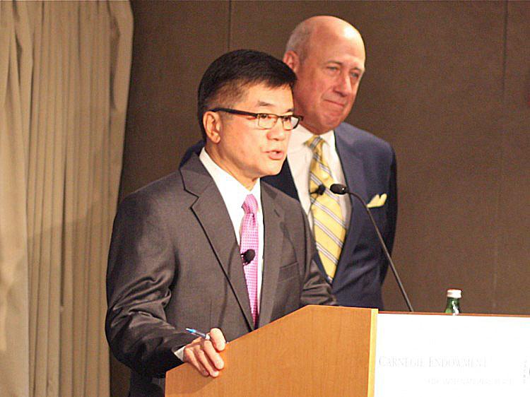Gary Locke, the U.S. Ambassador to China, with Douglas H. Paal