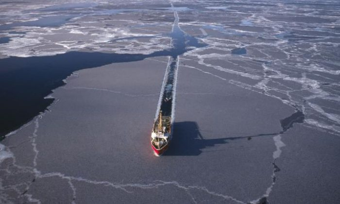 An icebreaker in the Arctic in this file photo. China has great plans to get involved in arctic strategy.  (iStock Photo)