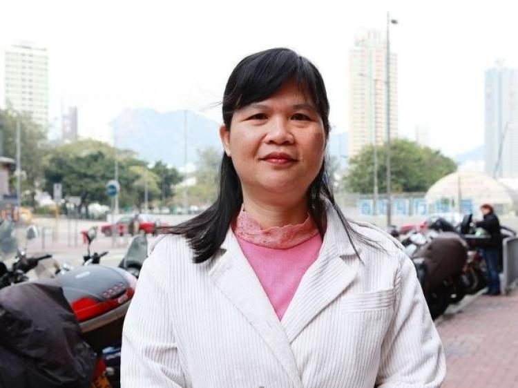 Chairperson of the Hong Kong Journalists Association, Mak Yin-ting, believes that Hong Kong media's self censorship is the main reason for its credibility problems. (Yu Gang/The Epoch Times)