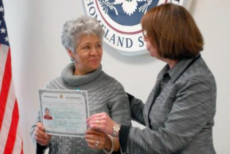 Woman Receives Naturalization Certificate After 27 Years   New York ...