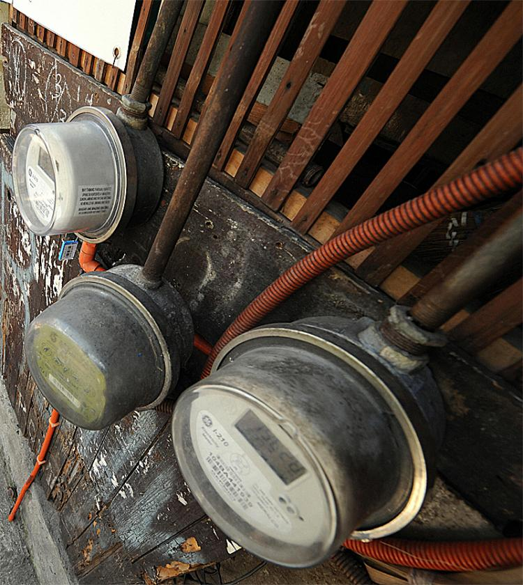 Old-style meters only measure total electricity used.  (Romeo Gacad/AFP/Getty Images)