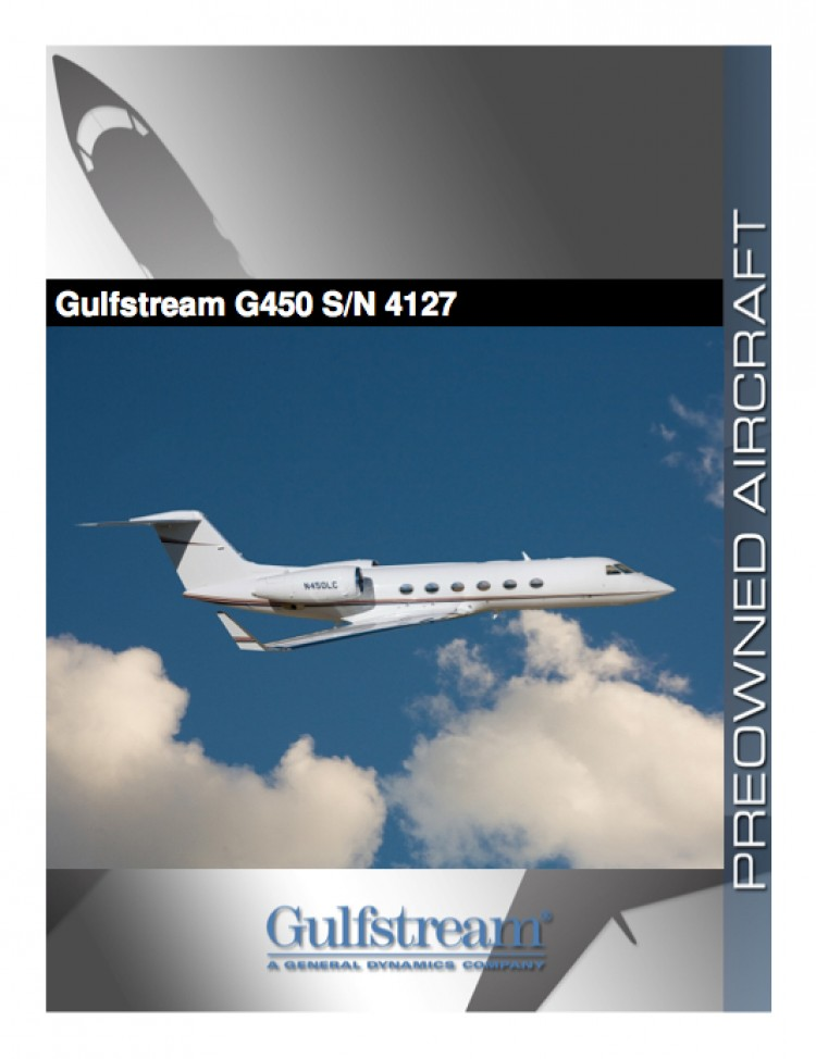 FLYING GREEN: Honeywell's Gulfstream G450 made the first completely biofueled transatlantic flight from New Jersey to Paris. (www.gulfstream.com)